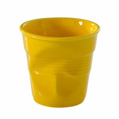 Taza espresso arrugada revol 80 ml amarillo