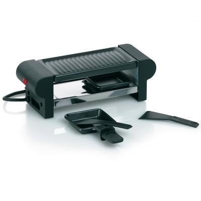 Mini raclette eléctrica negra