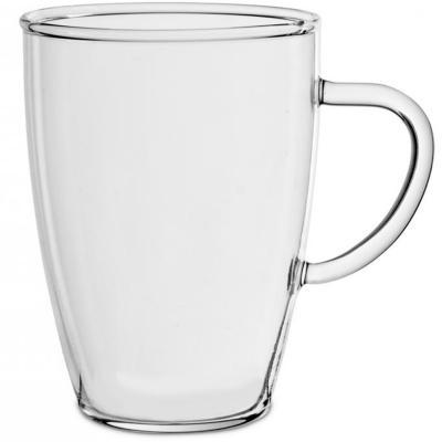 Taza mug abombado 350 ml cristal borosilicato
