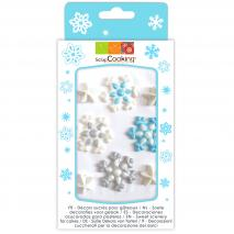 Set 8 decoracions de sucre Floc de neu