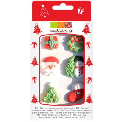 Set 6 decoraciones azúcar Navidad