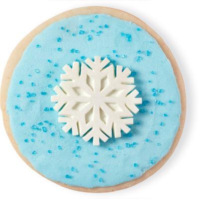 Juego 12 decoraciones Copo de Nieve