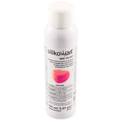 Spray alimentario efecto terciopelo rosa