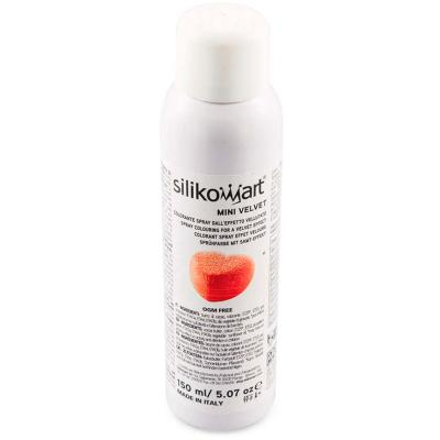 Spray alimentario efecto terciopelo 150 ml rojo
