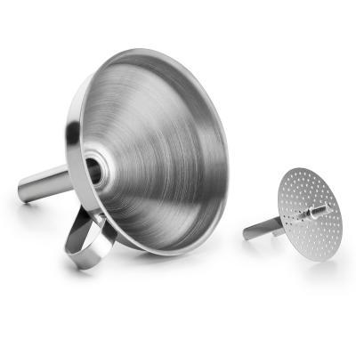Embudo con filtro acero 10 cm