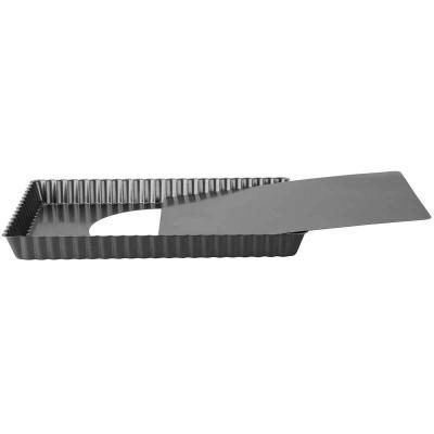 Molde rectangular tartaleta móvil 36x13 cm