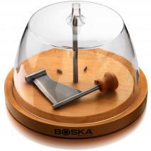 Cortador queso tete de moine Boska con tapa