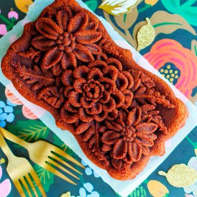Molde pastel Nordic Wildflower Loaf pan