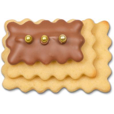 Juego 3 cortadores galletas rectangular rizado
