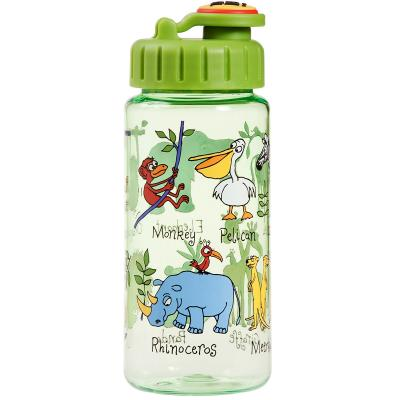 Botella agua con pajita Jungla