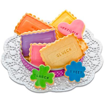 Set letras y números sello galletas
