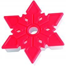 Cortador galletes Copo de nieve relieve