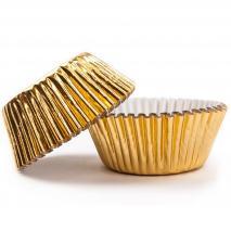 Papel cupcakes x30 PME dorado