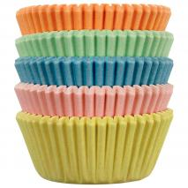 Papel mini cupcakes Pastel x100