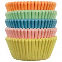 Paper mini cupcakes Pastel x100