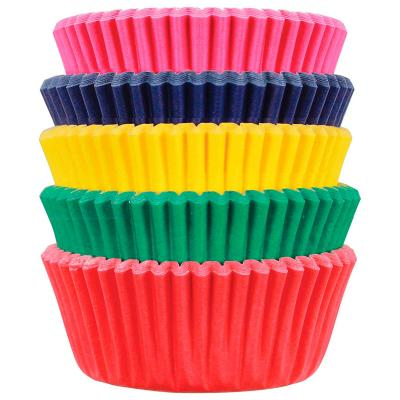 Papel mini cupcakes x100 Carnival 5 colores
