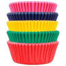 Paper mini cupcakes x100 Carnival 5 colors