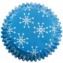 Papel mini cupcakes x100 Copos de nieve