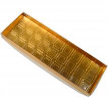 Capsa per a 27 bombons daurada