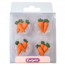 Set 12 decoraciones azúcar Zanahorias