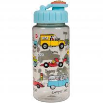 Botella agua con pajita Coches