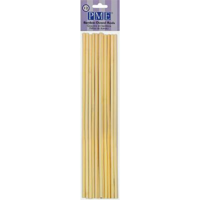 Juego 12 palos bambú soporte pasteles