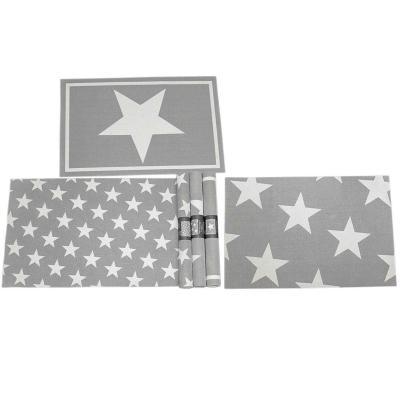 Individual estrella mesa PVC 45x30 cm surtido