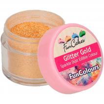 Polvo brillante comestible Sparkle dorado metálico