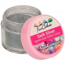 Polvo comestible brillante Sparkle plata