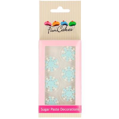 Set 6 decoraciones de azúcar Copos de nieve