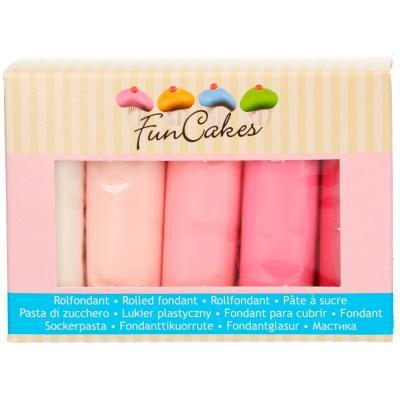 Set 5 fondants Funcakes 5x100 gr Rosas