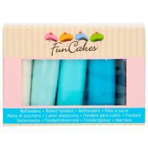 Set 5 fondants Funcakes 5x100 gr Azules