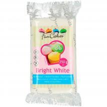 Fondant FunCakes 250 g vainilla Blanco Brillante