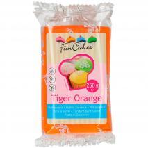 Fondant FunCakes 250 g naranja tigre