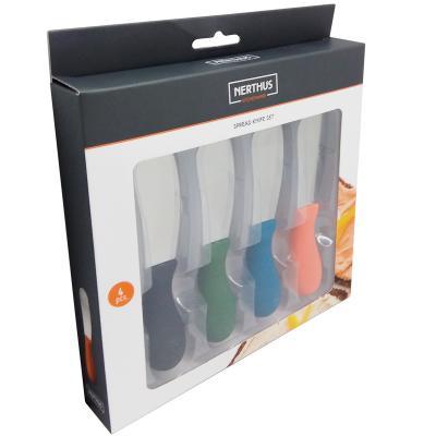 Set 4 cuchillos para untar colores