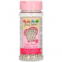Sprinkles perla azúcar 4 mm 80 g plata