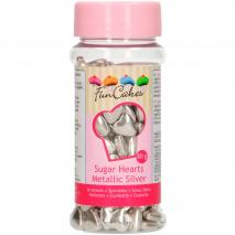 Sprinkles cors de sucre 80 g plata metal·litzada
