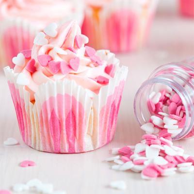 Sprinkles nonpareils 80 g corazones rosa y blanco