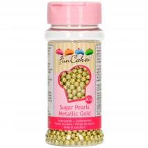 Sprinkles perles sucre 4 mm 80 g or metàl.lic