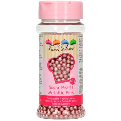 Sprinkles perlas azúcar 80 g rosa brillante