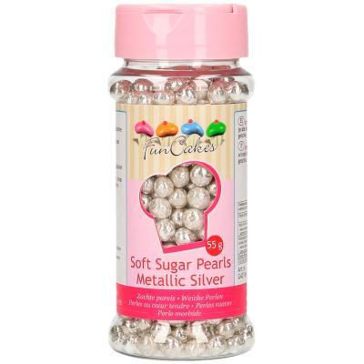Sprinkles perlas blandas plata metalizado 55g