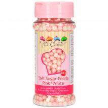 Sprinkles perles 60 g rosa i blanc