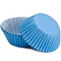 Papel  mini cupcakes azul cielo x60