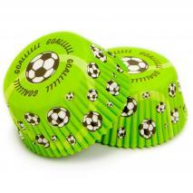 Papel cupcakes Fútbol x50