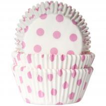 Papel cupcakes Polkadot x50
