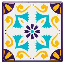 Posavasos Mustard motif base corcho