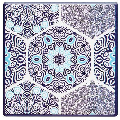 Posavasos Blue mandala base corcho