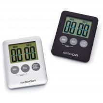 Temporitzador 99 minuts magnètic negre/plata