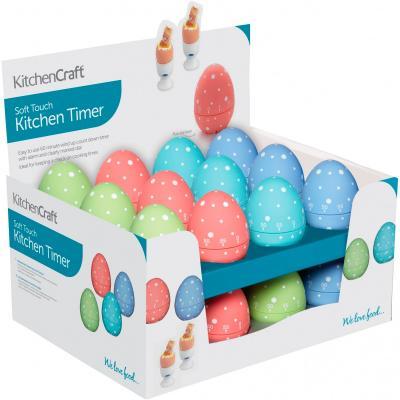 Minutero huevo colores con topos Colourworks