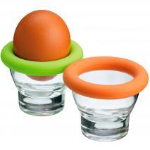 Soporte para huevo en cristal y silicona